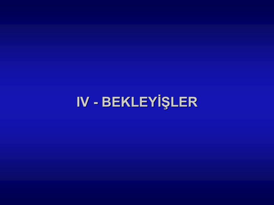 IV - BEKLEYİŞLER