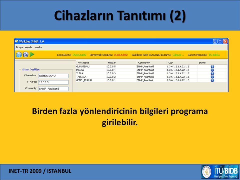 INET-TR 2009 / ISTANBUL Cihazların Tanıtımı (2) Birden fazla yönlendiricinin bilgileri programa girilebilir.