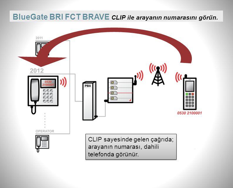 BlueGate BRI FCT BRAVE Çağrı detay kayıtları (CDR) Görüşmelere ilişkin tutulan kayıtlardan yola çıkarak kurum içinde bütçeleme, faturalama, ücretlendirme yapılabilir.