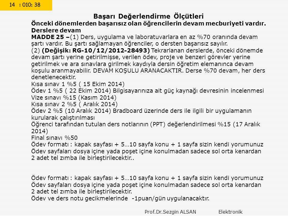 Prof.Dr.Sezgin ALSAN Rectifiers 43 En basit İdeal diyod karateristiği