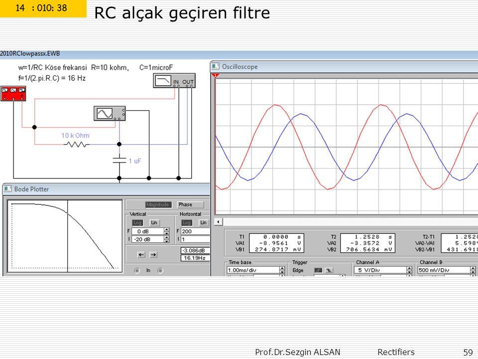 Prof.Dr.Sezgin ALSAN Rectifiers 59 RC alçak geçiren filtre