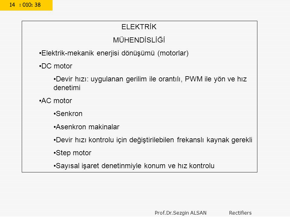 Prof.Dr.Sezgin ALSAN Elektronik 17 t Teget (hız) Tepe değer Basınç Duyarlık elemanı Basınç Analog türev alma Samlpe and hold