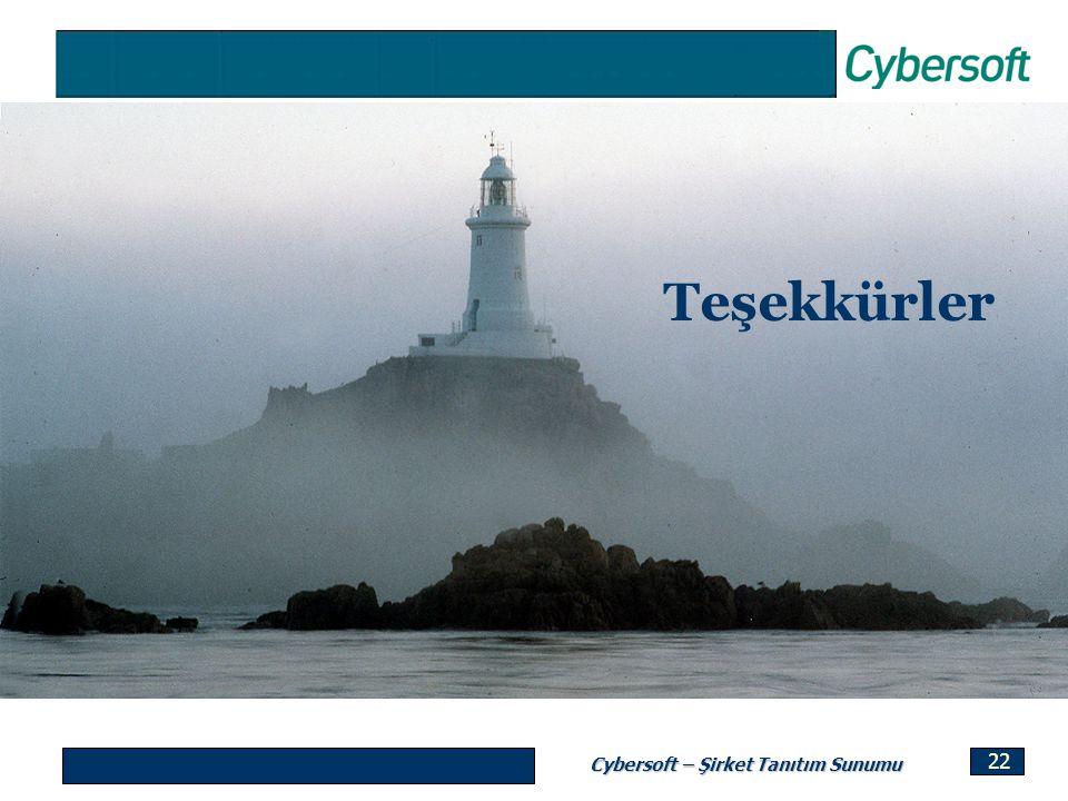 Cybersoft – Şirket Tanıtım Sunumu 22 Teşekkürler