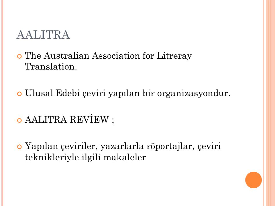 AALITRA The Australian Association for Litreray Translation.