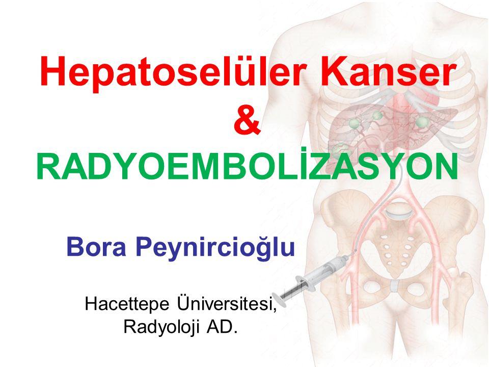 Hepatoselüler Kanser & RADYOEMBOLİZASYON Bora Peynircioğlu Hacettepe Üniversitesi, Radyoloji AD.