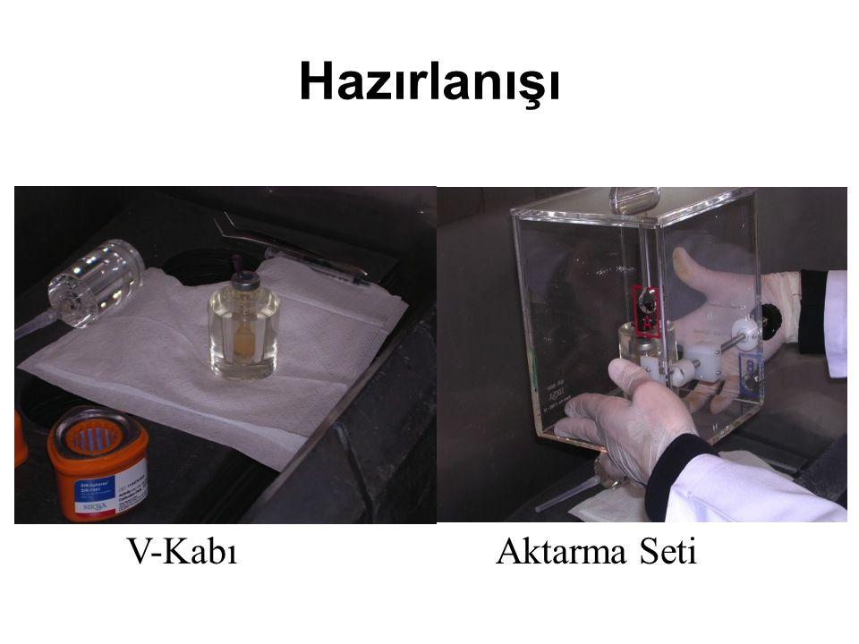 Hazırlanışı V-KabıAktarma Seti
