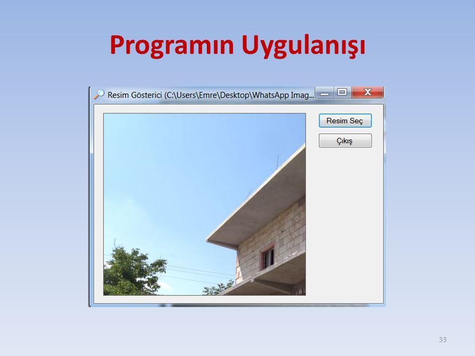 Programın Uygulanışı 33