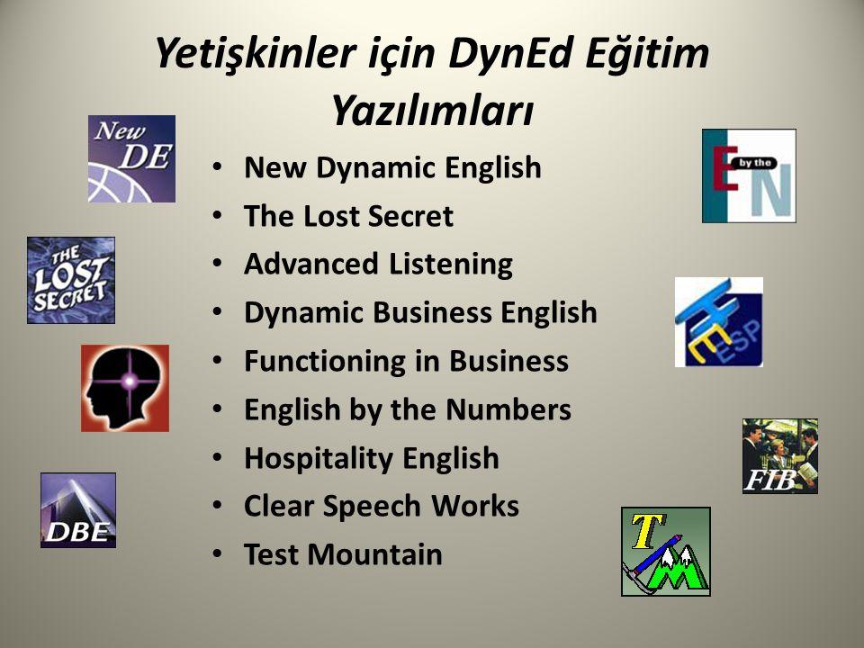 Yetişkinler için DynEd Eğitim Yazılımları New Dynamic English The Lost Secret Advanced Listening Dynamic Business English Functioning in Business Engl