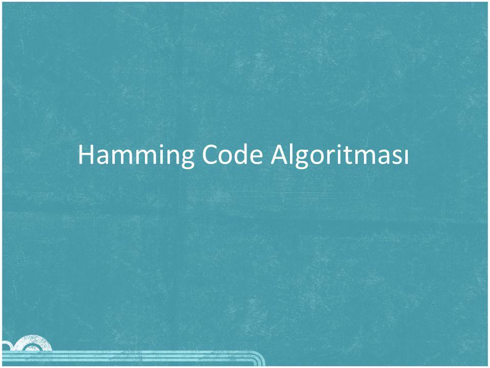Hamming Code Algoritması