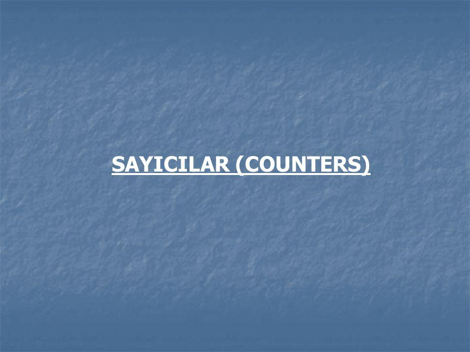 SAYICILAR (COUNTERS)