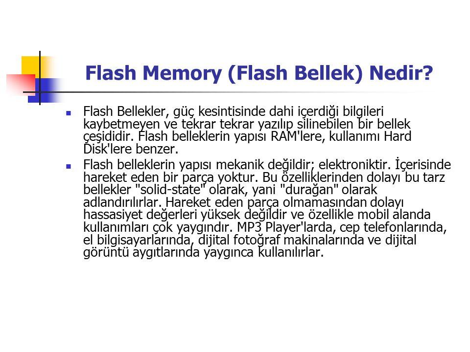 Flash Memory (Flash Bellek) Nedir.