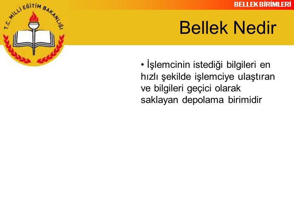 BELLEK BİRİMLERİ RAM MODÜLLERİ