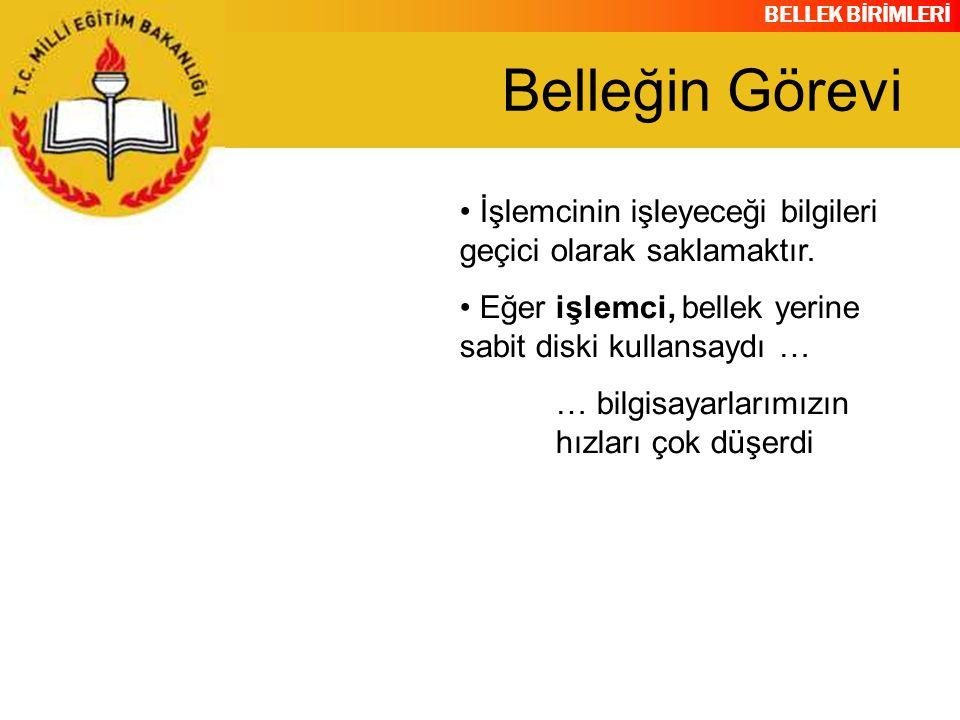 BELLEK BİRİMLERİ RAM BANKALARI