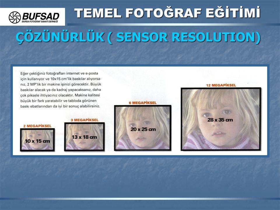 TEMEL FOTOĞRAF EĞİTİMİ ÇÖZÜNÜRLÜK ( SENSOR RESOLUTION)