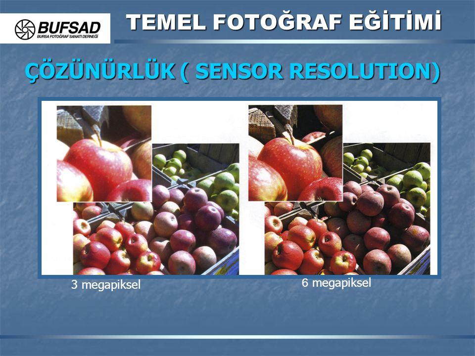 TEMEL FOTOĞRAF EĞİTİMİ ÇÖZÜNÜRLÜK ( SENSOR RESOLUTION) 3 megapiksel 6 megapiksel
