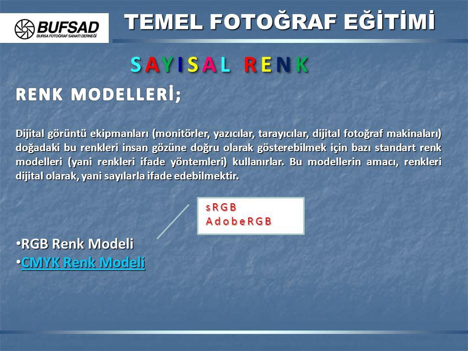 TEMEL FOTOĞRAF EĞİTİMİ SAYISAL RENKSAYISAL RENKSAYISAL RENKSAYISAL RENK SAYISAL RENKSAYISAL RENKSAYISAL RENKSAYISAL RENK Dijital görüntü ekipmanları (