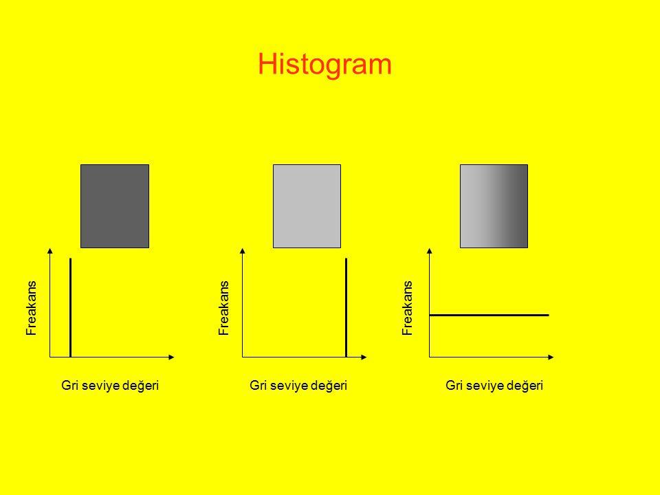 Histogram Gri seviye değeri Freakans