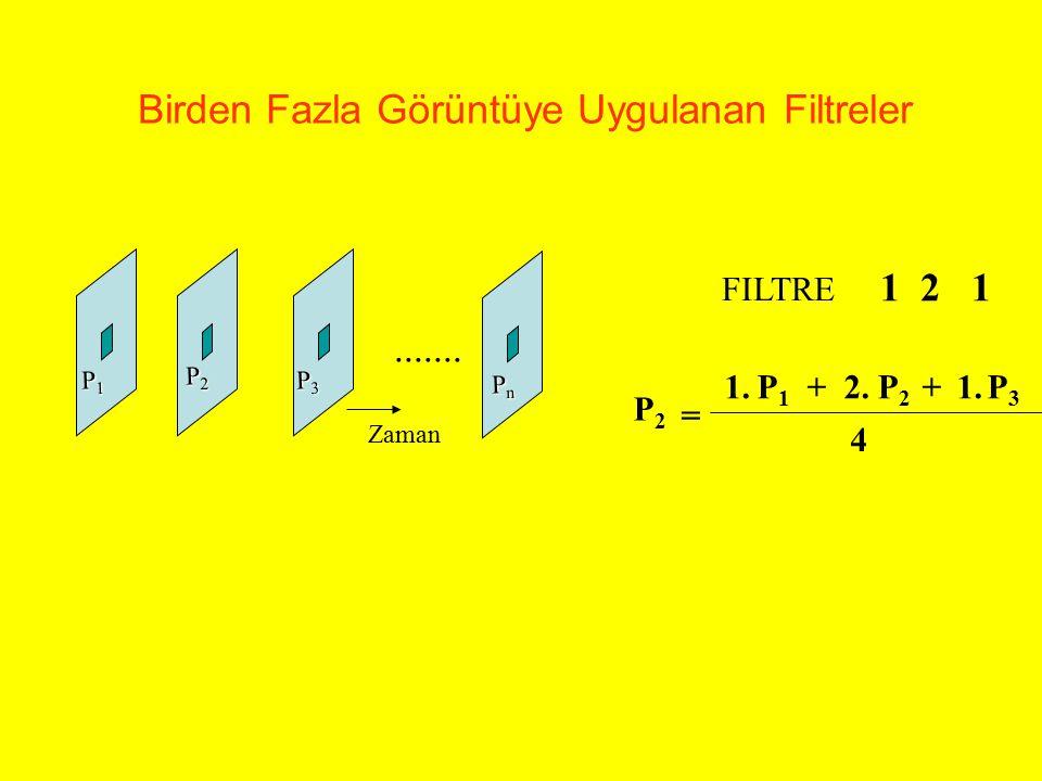 Birden Fazla Görüntüye Uygulanan Filtreler P1P1P1P1 P2P2P2P2 P3P3P3P3 PnPnPnPn P2P2 = P1P1 P3P3 P2P2 1.++2.1. 4 FILTRE 1 2 1....... Zaman