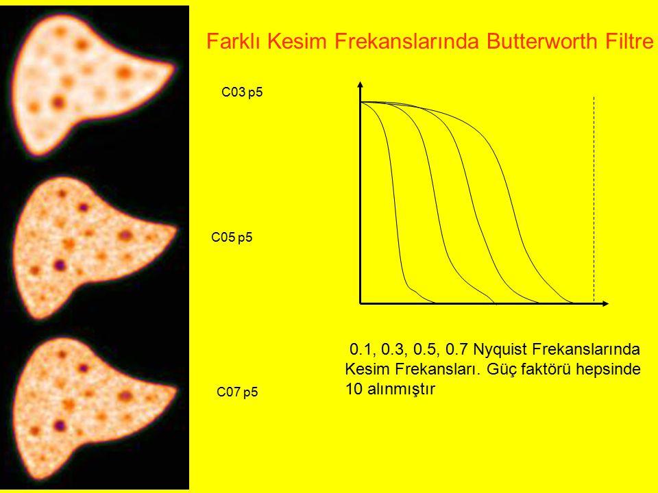 C03 p5 C05 p5 C07 p5 Farklı Kesim Frekanslarında Butterworth Filtre 0.1, 0.3, 0.5, 0.7 Nyquist Frekanslarında Kesim Frekansları. Güç faktörü hepsinde