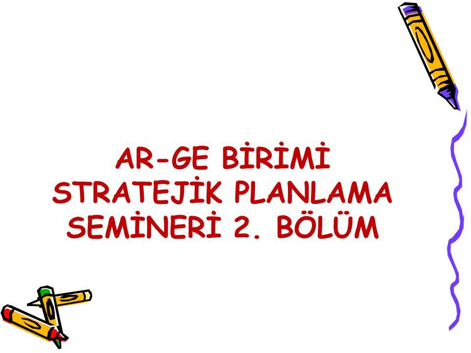 Stratejik Amaç Örnek Stratejik Amaç 4.