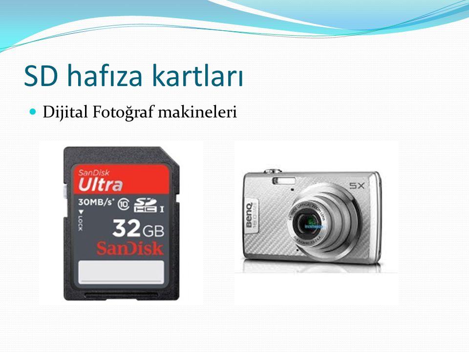 SD hafıza kartları Dijital Fotoğraf makineleri