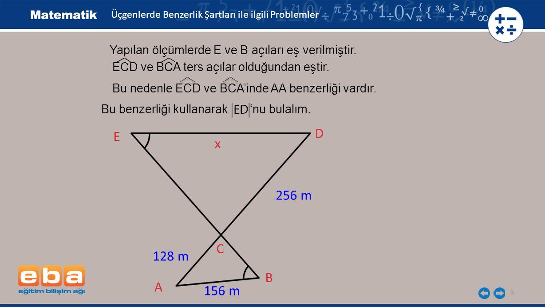 4 E B 128 cm 256 cm D A C x 156 cm ECD BCA 128.x = 256.