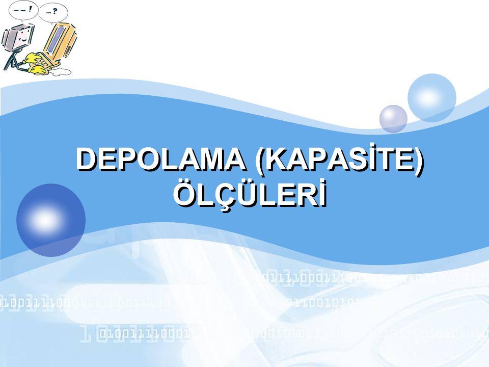 LOGO DEPOLAMA (KAPASİTE) ÖLÇÜLERİ