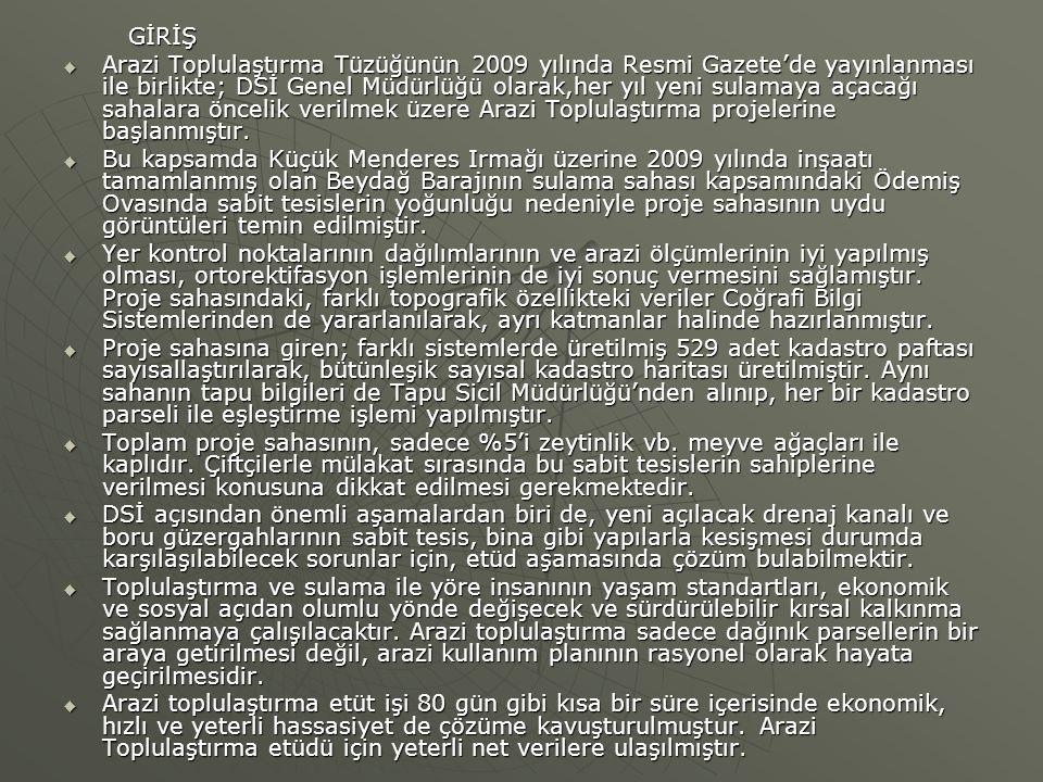 GİRİŞ GİRİŞ  Arazi Toplulaştırma Tüzüğünün 2009 yılında Resmi Gazete'de yayınlanması ile birlikte; DSİ Genel Müdürlüğü olarak,her yıl yeni sulamaya a