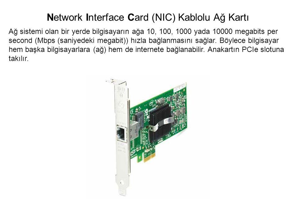 Ağ sistemi olan bir yerde bilgisayarın ağa 10, 100, 1000 yada 10000 megabits per second (Mbps (saniyedeki megabit)) hızla bağlanmasını sağlar. Böylece