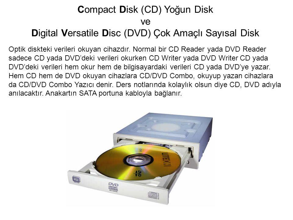 Optik diskteki verileri okuyan cihazdır. Normal bir CD Reader yada DVD Reader sadece CD yada DVD'deki verileri okurken CD Writer yada DVD Writer CD ya