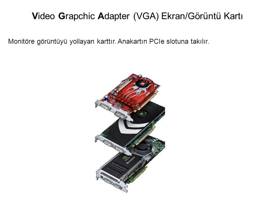 Monitöre görüntüyü yollayan karttır. Anakartın PCIe slotuna takılır. Video Grapchic Adapter (VGA) Ekran/Görüntü Kartı