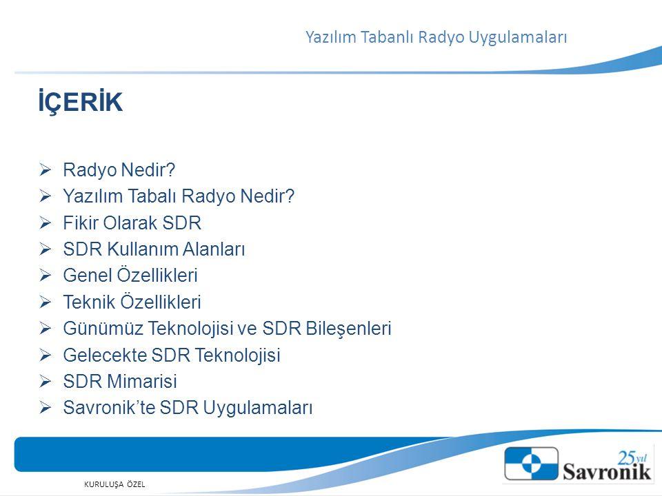 KURULUŞA ÖZEL  SDR Forum (http://www.wirelessinnovation.org/ )http://www.wirelessinnovation.org/  Communication Systems(S.