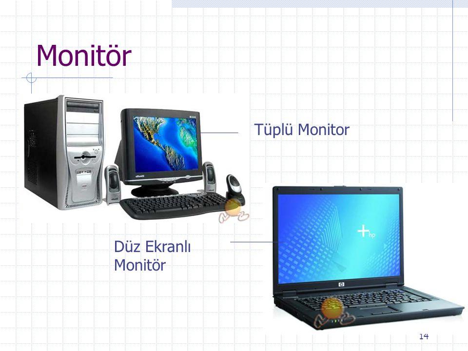 14 Monitör Tüplü Monitor Düz Ekranlı Monitör