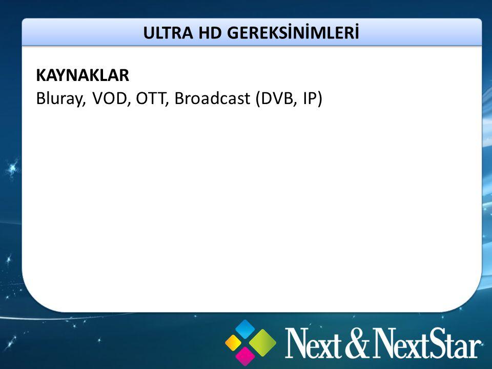 ULTRA HD GEREKSİNİMLERİ YENİ STANDARTLAR HDMI 2.0