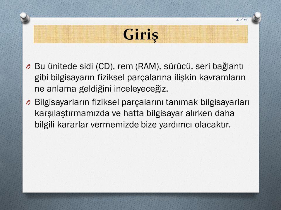 Yardımcı Bellek Birimleri O DVD'ler: O İngilizce Digital Video Disc kelimelerinin baş harfleri ile adlandırılın DVD'ler, görünüş olarak CD'leri andırmaktadır.