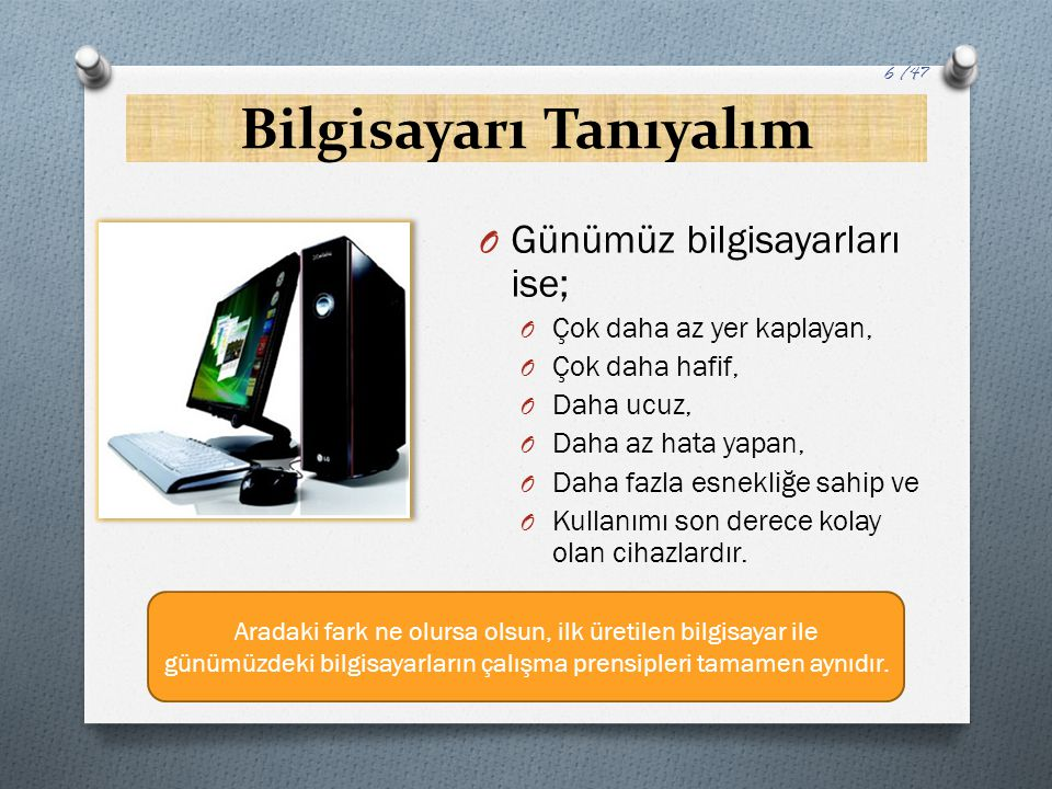 BİT ve BAYT Kavramları… O 8 Bit1 Bayt O 1024 Bayt1 Kilo Bayt (KB) O 1024 KB1 Mega Bayt (MB) O 1024 MB1 Giga Bayt (GB) O 1024 GB1 Tera Bayt (TB)'a eşittir.