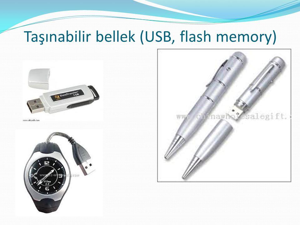 Taşınabilir bellek (USB, flash memory)