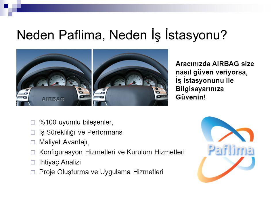 Neden Paflima, Neden İş İstasyonu?  %100 uyumlu bileşenler,  İş Sürekliliği ve Performans  Maliyet Avantajı,  Konfigürasyon Hizmetleri ve Kurulum