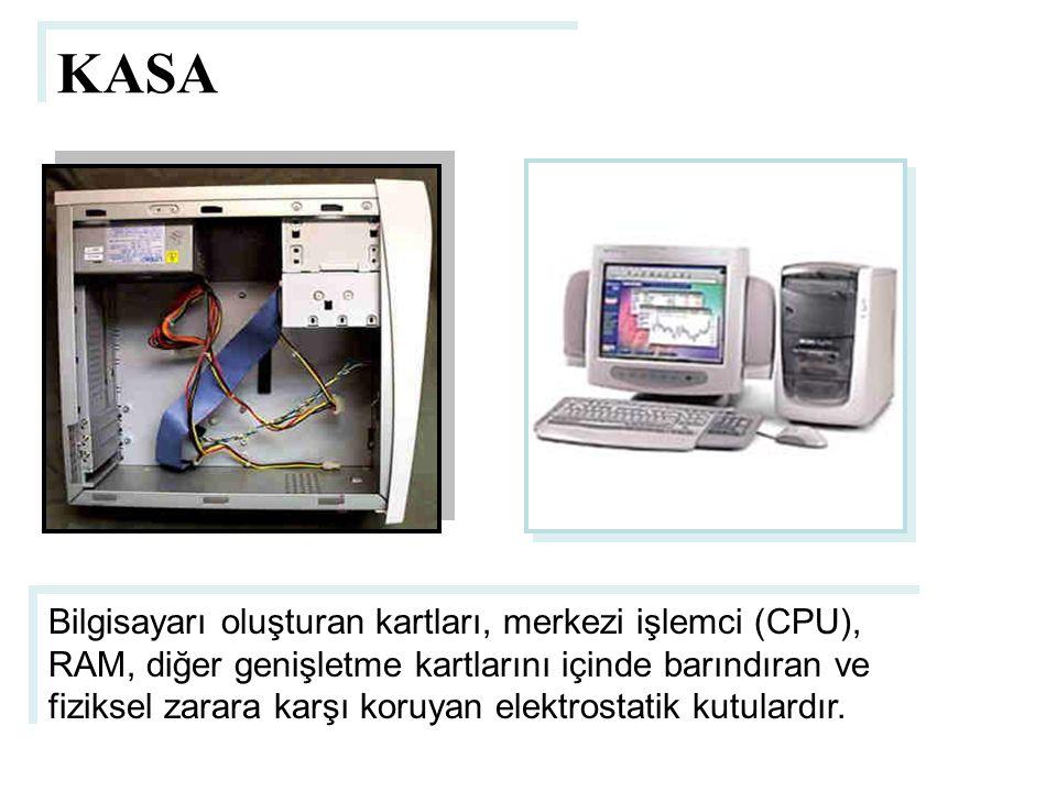 KASA Bilgisayarı oluşturan kartları, merkezi işlemci (CPU), RAM, diğer genişletme kartlarını içinde barındıran ve fiziksel zarara karşı koruyan elektr