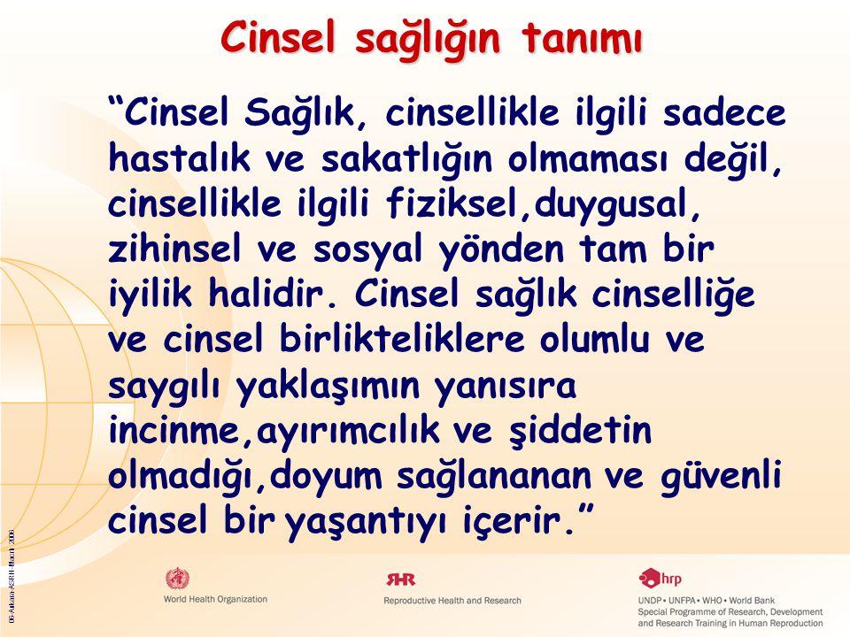 06-Ankara-ASRH-Macrh 2006 Cinsel Sağlık, cinsellikle ilgili sadece hastalık ve sakatlığın olmaması değil, cinsellikle ilgili fiziksel,duygusal, zihinsel ve sosyal yönden tam bir iyilik halidir.