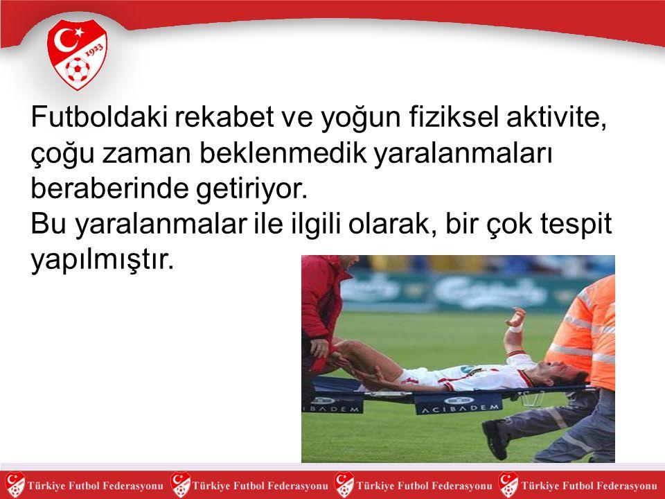 Futbolda yaralanmalarla ilgili belirlemeler ve alınacak önlemler.