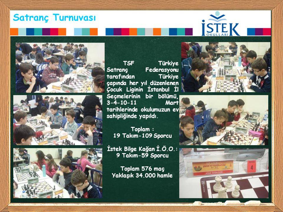 Satranç Turnuvası TSF Türkiye Satranç Federasyonu tarafından Türkiye çapında her yıl düzenlenen Çocuk Liginin İstanbul İl Seçmelerinin bir bölümü, 3-4
