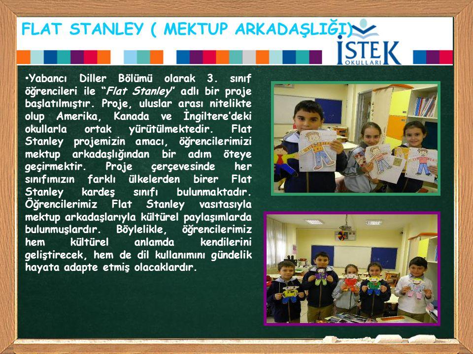 """FLAT STANLEY ( MEKTUP ARKADAŞLIĞI) Yabancı Diller Bölümü olarak 3. sınıf öğrencileri ile """"Flat Stanley"""" adlı bir proje başlatılmıştır. Proje, uluslar"""