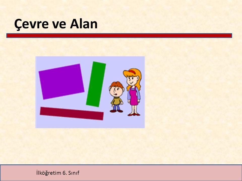 Alan Problemleri a)Verilenlere göre A ve C bloklarının alanlarını bulalım.