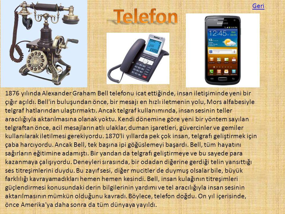 1876 yılında Alexander Graham Bell telefonu icat ettiğinde, insan iletişiminde yeni bir çığır açıldı. Bell'in buluşundan önce, bir mesajı en hızlı ile