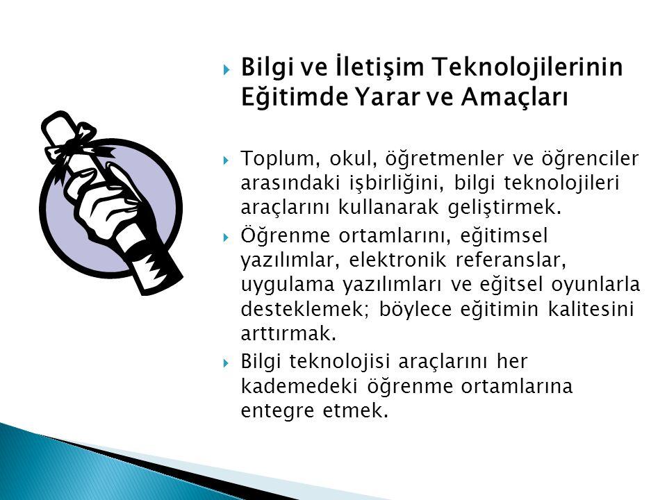 1 – Bilgi ve İletişim Teknolojileri hangi anlama gelmektedir.