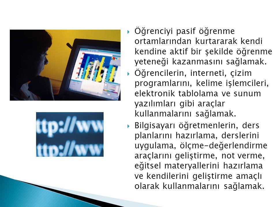  Okul yöntemlerinin veri tabanları, kelime işlemci, sunum yazılımları vb.