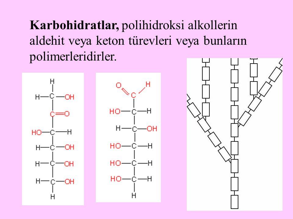 5 Karbohidratlar, polihidroksi alkollerin aldehit veya keton türevleri veya bunların polimerleridirler.