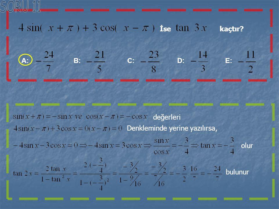 Yandaki ABC üçgeninde;verilere göre IABI=x aşağıdakilerin hangisine eşittir. A: B: C: D: E: ABC üçgeninde sinüs teoremine göre