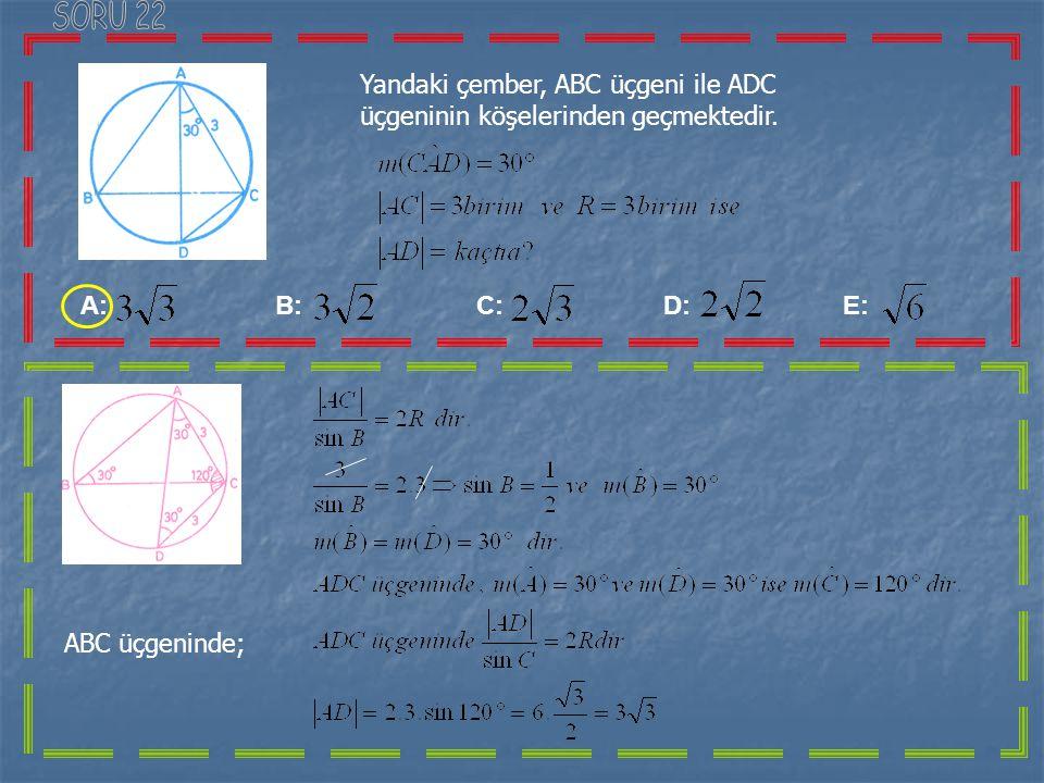 İse nedir? Eşitliğinde x yerine y, y yerine x yazıp, y 'yi çekersek Bulmuş oluruz. olur A: B: C: D: E: